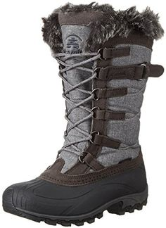Kamik Womens Snowvalley Snow Boot Charcoal 6 M US *** Want additional info? Click on the image.(This is an Amazon affiliate link and I receive a commission for the sales)