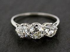 Art Deco Antique Engagement Ring Antique by AlistirWoodTait #diamonds #wedding