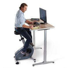 Charmant Bring Physical Activity Back Into The Workplace With The LifeSpan C3 DT3  Standing Desk Bike