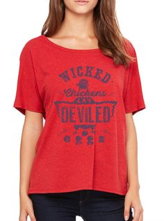 Wicked Chickens Lay Deviled Eggs - Women's Loose Tee