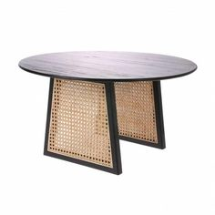 HKliving HKliving Rotan side table black M