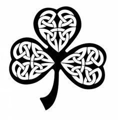 Tribal shamrock black clover icon vector
