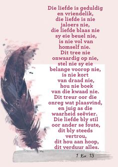 Wisdom Quotes, Bible Quotes, My Redeemer Lives, Afrikaans Quotes, Love You, Inspirational Quotes, Faith, Sayings, Life Coach Quotes