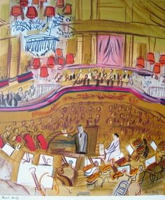 L'orchestre - Raoul Dufy - 1950 - color lithograph