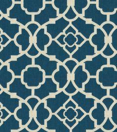 """Waverly Upholstery Fabric 54""""-Lovely Lattice Lapis"""