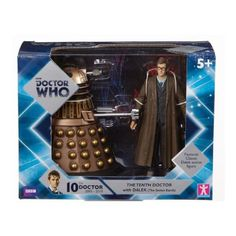 Doctor Who Tenth Doctor With Dalek Action Figure Set
