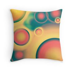 """""""Color bubbles"""" Throw Pillows by floraaplus 