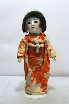 1920's Porcelain Bisque Head Comp Body Japanese Doll