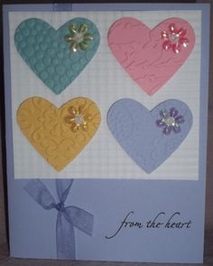 Dry Emboss Multi Color Valentine by Greta Boudeman - Cards and Paper Crafts at Splitcoaststampers