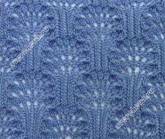 Stitch with Chart Lace Knitting Stitches, Knitting Charts, Knitting Patterns, Crochet Patterns, Knitting Needles, Lace Patterns, Stitch Patterns, Knitting Projects, Crochet Lace