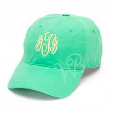 Mint Monogrammed Hat by LEmbroideryAndDesign on Etsy · Monogram HatsBirthday  ... 18ecb1f12ee7
