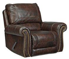 Bassett Swivel Recliner Many Leather Choices Rocker