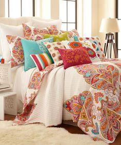 Orange & Natural Quilt Set