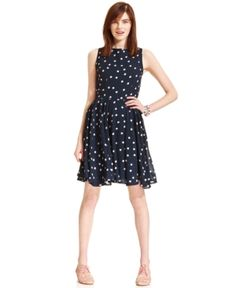 $69, Polka Dot Print Dress by Maison Jules. Sold by Macy's. Click for more info: http://lookastic.com/women/shop_items/49844/redirect