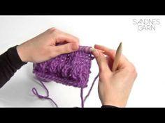 Sandnes Garn - Hvordan strikke boblemønster - YouTube