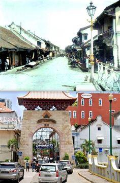 Batavia. (Weltevreden) Passar-Baroe, een buurt, grotendeels door Chinezen bewoond en waar ze hun handelshuizen hebben. ca 1900, ,., Pasar baru, Jl Pasar Baru, Jakarta, 2020 Jakarta, History, City, Historia, Cities