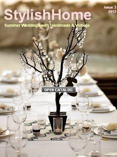 Summer Wedding Catalog StylishHome --  My antler mug is featured on page 21