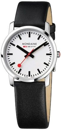 online shopping for Mondaine Men's Evo Gents 38 Day-Date Leather Band Watch from top store. See new offer for Mondaine Men's Evo Gents 38 Day-Date Leather Band Watch Black Leather Watch, Leather Watch Bands, Red Leather, Gents Watches, Watches For Men, Wrist Watches, Evo, Dezeen Watch Store, Affordable Watches