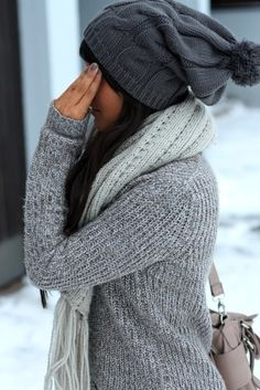 love the sweater and scarf and the colours not the droopy hat so much though