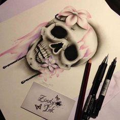 Sweet Decay Skull Tattoo Design by Zindy S. Nielsen- Sweet Decay Skull Tattoo Design by Zindy S. Nielsen Sweet Decay Skull Tattoo Design by Zindy S. Mädchen Tattoo, Tattoo Trend, Ankle Tattoo, Back Tattoo, Tattoo Music, Tattoo Drawings, Trendy Tattoos, Sexy Tattoos, Tribal Tattoos