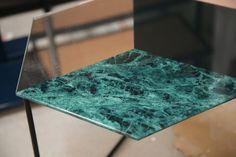 CALÇADA Side Tables - Made of printet and mirrored glass.  MATTHIAS LEHNER for O CEU 2016