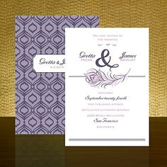 persian influence raisin wedding invitation item number rxw25700fcrn a delicate peacock feather and geometric
