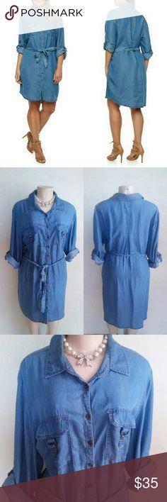 Spotted while shopping on Poshmark: ‼️REDUCED‼️Plus Size Denim Dress 3X! #poshmark #fashion #shopping #style #Dresses & Skirts