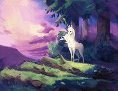 "unicornpurity: ""The Last Unicorn by MagdaPROski "" Unicorn Fantasy, Unicorn Art, Fantasy Art, Unicorn Illustration, Illustration Art, Fantasy Creatures, Mythical Creatures, The Last Unicorn, Horse Art"