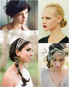 hair updos via Oncewed | Gold armour for bun, YSL S/S 2012 | Grecian ...