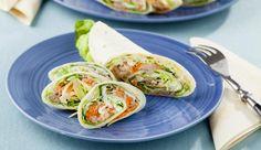 Würziger Thunfisch, knackige Möhren, frischer Kopfsalat und Frischkäse und fertig ist der leckere Wrap!