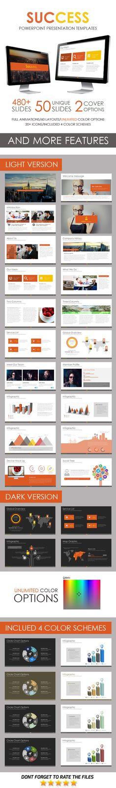 Success PowerPoint Template #design #slides Download: http://graphicriver.net/item/success-powerpoint-template/12703331?ref=ksioks