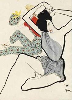 By René Gruau, 1950, Bright for the beach.