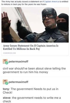 Yas but cap is amazing and he was definitely right in Civil War so frick u tony<< admittedly I was on team cap, but don't you dare disrespect Tony Stark Marvel Jokes, Avengers Memes, Marvel Funny, Marvel Avengers, Captain Marvel, Wanda Marvel, Marvel Dc Comics, Univers Marvel, Loki
