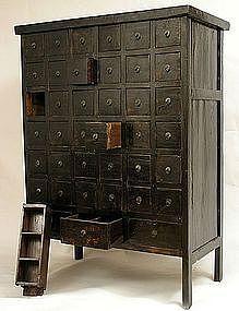 Large 39-Drawer Medicine cabinet. Fabulous find untouched!