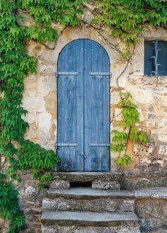 Stone Steps to Blue Door