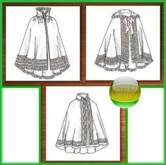 Victorian Cloak/Cape Pattern Civil War Era, want to make one of these with a hood.