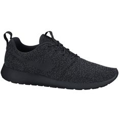Nike Roshe Run - Anthracite / Black ($100) ❤ liked on Polyvore featuring shoes, athletic shoes, obuca i patike, black shoes, breathable shoes, grip shoes, nike footwear and nike athletic shoes