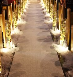 Every Bride wants a Stunning Aisle Runner to walk through during their wedding. Here we you can find some of the Hottest Indoor Wedding Aisle Runner Inspirations that can be replicated during your Wedding day. Wedding Church Aisle, Aisle Runner Wedding, Church Wedding Decorations, Aisle Runners, Pew Decorations, Burlap Runners, Wedding Centerpieces, Trendy Wedding, Dream Wedding