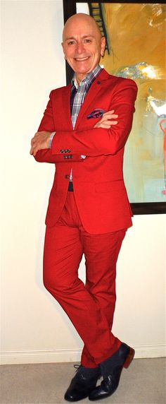 New red cotton suit,