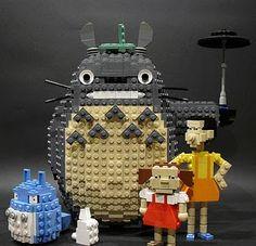Totoro legos. ::swoon::