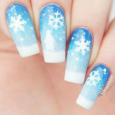 Super snowflakes!❄️ Thank you @liliumzz for using our penguins and snowflake #NailVinyls! snailvinyls.com