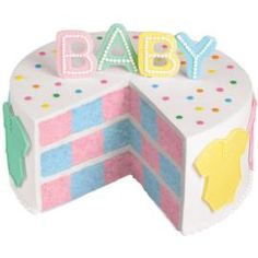 Oh baby, what a cake to behold! With the Wilton Checkerboard Cake Set there is a great surprise inside… blue and pink are featured for the newest family arrival.