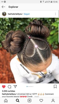 Cute Hairstyles - - Hairstyles - Hairstyles 2019 We have examined best cute hairstyles for you. You can apply one of this most preferred hair styes to your hair easily. Baby Girl Hairstyles, Kids Braided Hairstyles, Pretty Hairstyles, Cute Hairstyles For Kids, Fast Hairstyles, Princess Hairstyles, Modern Hairstyles, Everyday Hairstyles, Black Hairstyles
