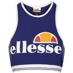 Crop Bralet by Ellesse (£20) ❤ liked on Polyvore featuring navy blue and topshop