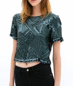 EMBROIDERED TOP  - ZARA