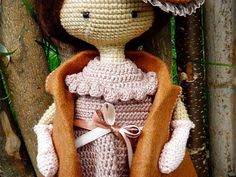 Knitting doll in a vintage hat technique amigurumi - Fair Masters - handmade, handmade Crochet Doll Pattern, Crochet Motif, Crochet Dolls, Crochet Patterns, Crochet Organizer, Burlap Wreath, Lana, Baby Dolls, Free Pattern