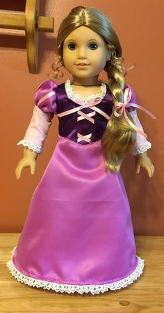 This beautiful Rapunzel dress will look stunning on your 18 doll. Shoes are included but not not doll. Lol