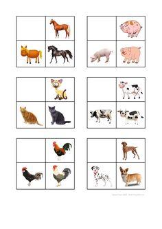 Tiles for the farm animal sorting game. Find the belonging board on Autismespektrum on Pinterest. By Autismespektrum. Sorting Games, Farm Animals, Language Arts, Farmer, Kindergarten, Preschool, Education, Speech Language Therapy, Infant Activities