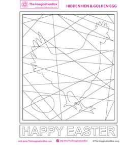 Easter kids art & craft activities, printables, free downloads, colouring sheets, featuring eggs, rabbits, chicks, patterns, prints and more