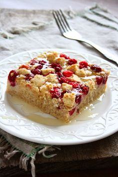 collecting memories: Cranberry White Chocolate Oatmeal Bake
